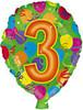 """18"""" Balloon Shaped """"3"""" Mylar Foil Balloon"""