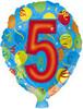 """18"""" Balloon Shaped """"5"""" Mylar Foil Balloon"""