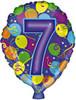 """18"""" Balloon Shaped """"7"""" Mylar Foil Balloon"""