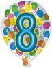 """18"""" Balloon Shaped """"8"""" Mylar Foil Balloon"""