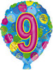 "18"" Ballon Shaped ""9"" Mylar Foil Balloon"