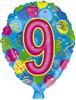 """18"""" Ballon Shaped """"9"""" Mylar Foil Balloon"""