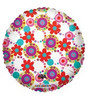 "18"" Decorative Circles & Flowers Mylar Foil Balloon"