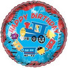 "18"" Happy Birthday Trains Mylar Foil Balloon"