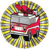 "18"" Happy Birthday Firetruck Mylar Foil Balloon"