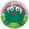 "18"" Happy Birthday Frog Mylar Foil Balloon"