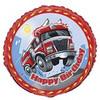 "18"" Fast Fire Truck  Engine Birthday Mylar Foil Balloon"