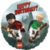 "18"" Harry Potter Lego Quidditch Happy Birthday Mylar Foil Balloon"