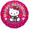 "18"" Hello Kitty Happy Birthday Face Mylar Foil Balloon"