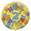 "18"" Happy 2nd Festive Birthday Mylar Foil Balloon"