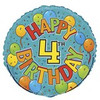 "18"" Happy 4th Festive Birthday Mylar Foil Balloon"