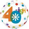 """18"""" 40-ish Birthday Mylar Foil Balloon"""