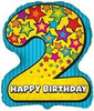 "25"" Number 2 Shaped Birthday Mylar Foil Balloon"
