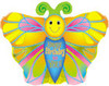 "20"" Happy Birthday to U Butterfly Shaped Mylar Foil Balloon"