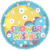 "18"" Baby Wishes Umbrella Balloon Mylar Foil Balloon"