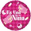 "18"" Es Una Nina Sheep Spanish Mylar Foil Balloon"