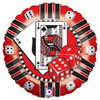 "18"" Casino Chip Shape Mylar Foil Balloon"