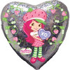 "18"" Strawberry Shortcake XO Holographic Mylar Foil Balloon"