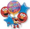5 Balloon Elmo Floating Birthday Bouquet Combo Mylar Foil Balloons