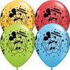 "11"" Mickey Mouse Happy Birthday Assortment Latex Balloons"