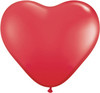 "Heart 15"" Standard Red Latex Balloons"