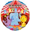 "18"" Birthday Circus Mylar Foil Balloons"