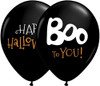 "11"" Boo to You Halloween Latex Balloons"