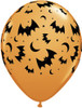 "11"" Flying Bats & Moons Latex Balloons"