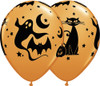"11"" Fun & Spooky Icons Latex Halloween Balloons"