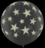 "36"" (3') Glow in the Dark Stars-A-Round (Halloween) Latex Balloon"