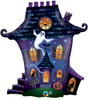 "31"" Halloween Haunted House Ghostly Shape Mylar Foil Balloon"
