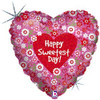 "18"" Sweetest Day Field of Flowers Mylar Foil Balloon"