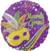 "18"" Festive Mardi Gras Mylar Foil Balloon"