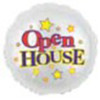"18"" Open House Round Mylar Foil Balloon"