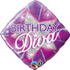 "18"" Birthday Diva   Mylar Foil Balloon"