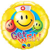 "18"" Smiley Faces Get Well   Mylar Foil Balloon"
