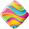 "18"" Wavy Stripes Accent   Mylar Foil Balloon"