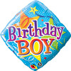 "18"" Birthday Boy Diamond   Mylar Foil Balloon"