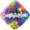 "18"" Congratulations Diamond   Mylar Foil Balloon"