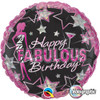 "18"" Birthday Fabulous   Mylar Foil Balloon"