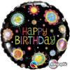 "18"" Birthday Funky  Dots   Mylar Foil Balloon"