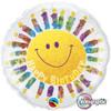 "18"" Birthday Smile & Candles  Mylar Foil Balloon"