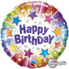 "18"" Birthday Radiant Stars    Mylar Foil Balloon"