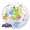 "22"" Age 3 Cuddly Bubble Balloon"