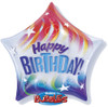 "22"" Colorful Birthday Star Bubble Balloon"