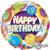 "18"" Birthday Big Dots & Glitz   Mylar Foil Balloon"