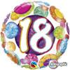 """18"""" 18 Birthday Big Dots & Glitz   Mylar Foil Balloon"""