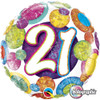 "18"" 21 Birthday Big Dots & Glitz   Mylar Foil Balloon"