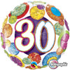 "18"" 30 Birthday Big Dots & Glitz   Mylar Foil Balloon"