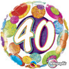 "18"" 40 Birthday Big Dots & Glitz   Mylar Foil Balloon"